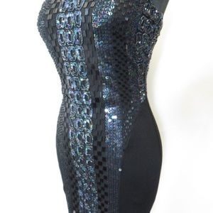 Bebe sequin and beaded dress